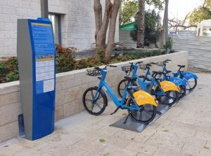 עמדת השכרת אופניים - דוברות עיריית ירושלים_640x475