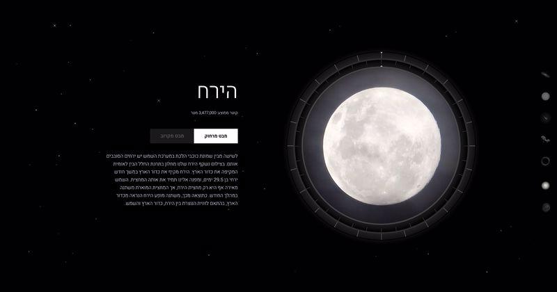 החלל מתערוכת מבט אל החלל. מוזיאון המדע
