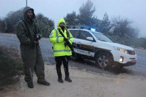 משטרה בשלג