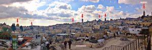תצפית שלושת הכיפות ממגדל שער שכם. מראה מקום פנורמי , צילום יחצ פמי_640x214