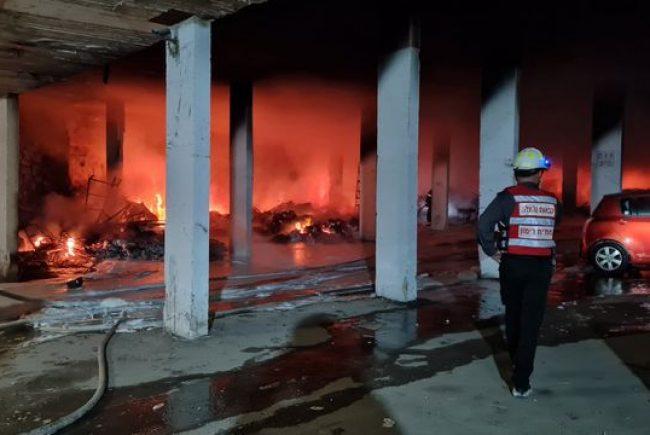 הושגה שליטה על השריפה רחבת ההיקף ברחוב סורוצקין בירושלים