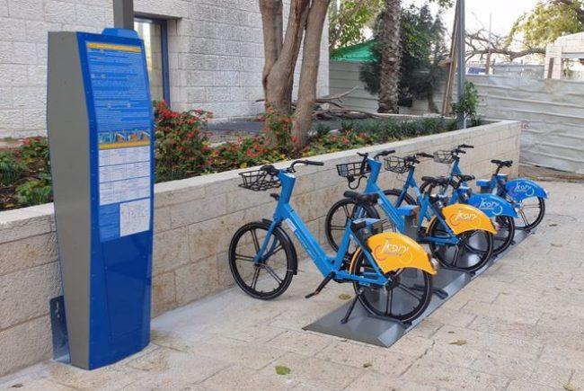 האופניים להשכרה הגיעו לירושלים ויפרשו ב-25 נקודות עגינה ברחבי העיר