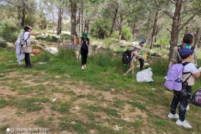 אלפי ילדים ובני נוער ירושלמים במבצע לניקיון שטחי הטבע בעיר