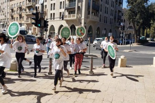 לרגל יום האישה הבינלאומי התקיים מרוץ שליחות של נשים משפיעות למלחמה באלימות כלפי נשים