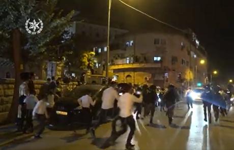 מבצע 'אחריות מנצחת' של המשטרה ברחובות שבטי ישראל ושדרות בר לב בירושלים לאכיפה של הסגר ותקנות הקורונה ועצרו 17 חשודים