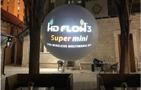 מהפכת הכדור : עולה החדש מירושלים לעולם האירועים מסך כדורי להקרנת  תוכן דיגיטלי