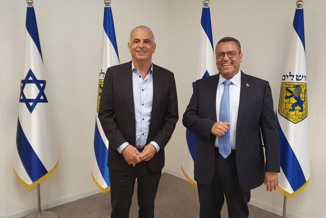 ירושלים,  נפרדת משר האוצר היוצא ; ראש העיר משה ליאון העניק לכחלון אות הוקרה מיוחד על פועלו למען העיר