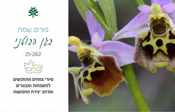 הצמחים מתחפשים בפורים בגן הבוטני בירושלים. שלל אירועים לכל המשפחה