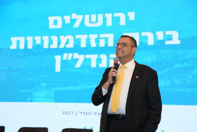 """ראש העיר ירושלים ב'ועידת ערים מתחדשות':  """"המטרה שלי היא להגיע לבניית עשרת אלפים יח""""ד בשנה"""""""