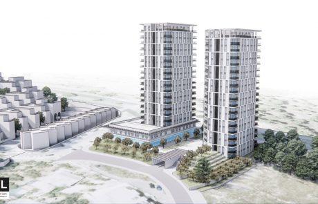 216 יחידות דיור ב 2 מגדלים בגובה 18 קומות בכניסה לשכונת גילה
